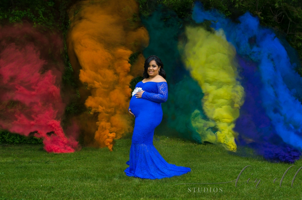 How to Create a Rainbow Smoke Bomb Photo Shoot