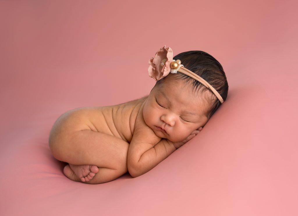 Newborn Portrait Baby Girl in Pink by Lin Ellen Studios serving Philadelphia