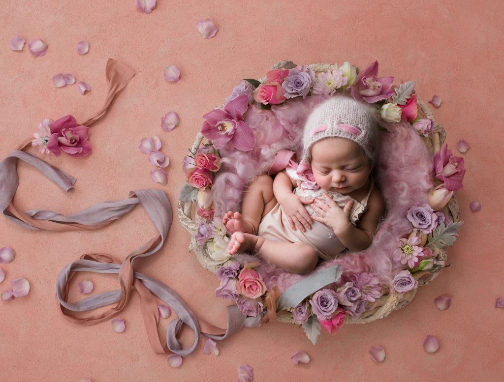 Baby Girl in Pink Artwork