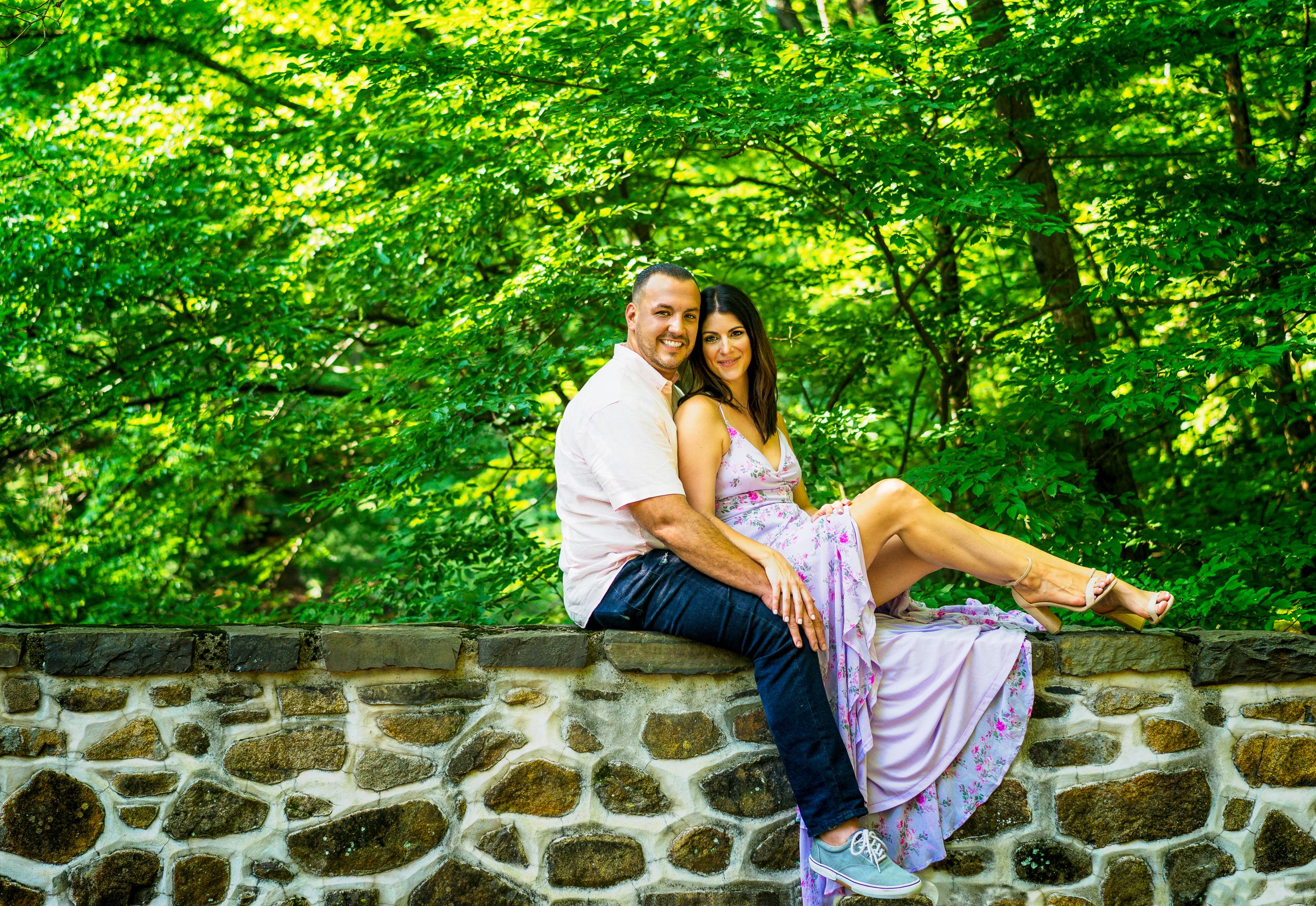 Outdoor Engagement Photography Session by Lin Ellen Studios Philadelphia