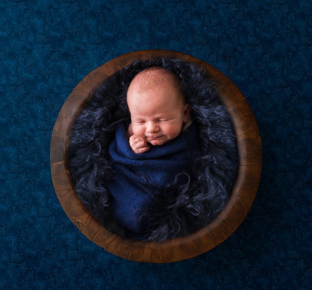 Baby Boy in Blue